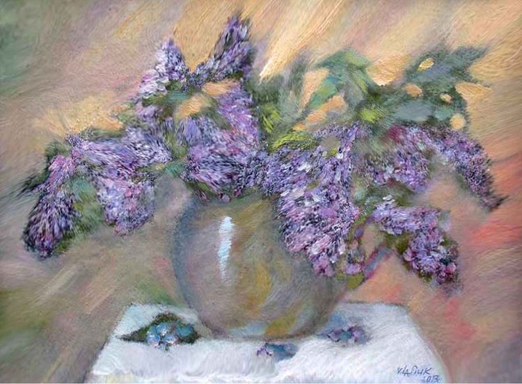 Lilac. The soul is cured. by Alexander Vlasyuk - search and link Fine Art with ARTdefs.com