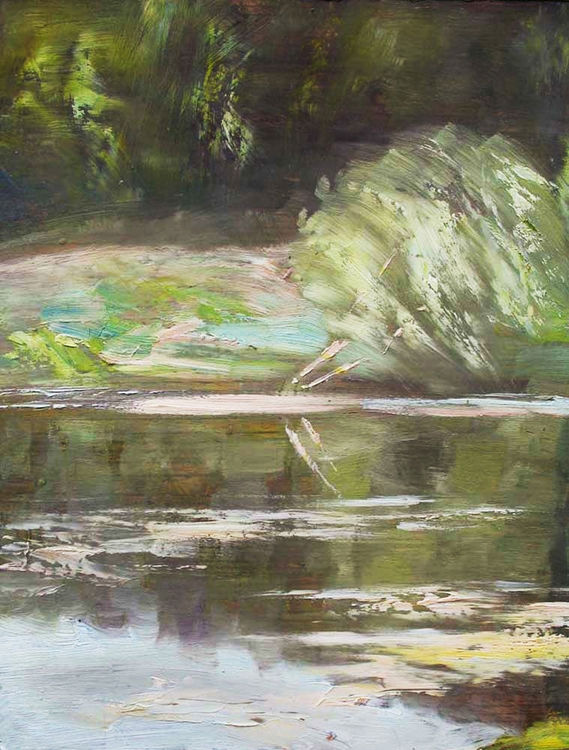 By the river by Alexander Vlasyuk - search and link Fine Art with ARTdefs.com