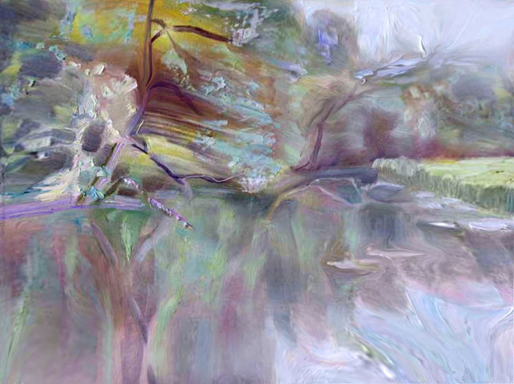 The flow of SPRING by Alexander Vlasyuk - search and link Fine Art with ARTdefs.com