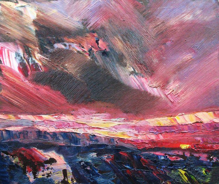 Evening sunset by Alexander Vlasyuk - search and link Fine Art with ARTdefs.com