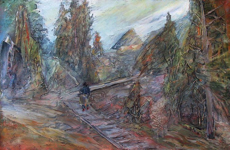 On the river Ob by Alexander Vlasyuk - search and link Fine Art with ARTdefs.com