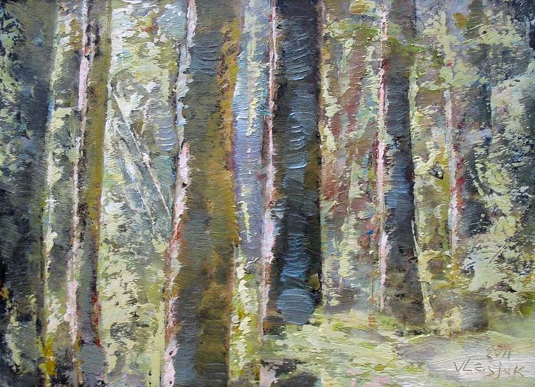 The Forest of My Childhood by Alexander Vlasyuk - search and link Fine Art with ARTdefs.com