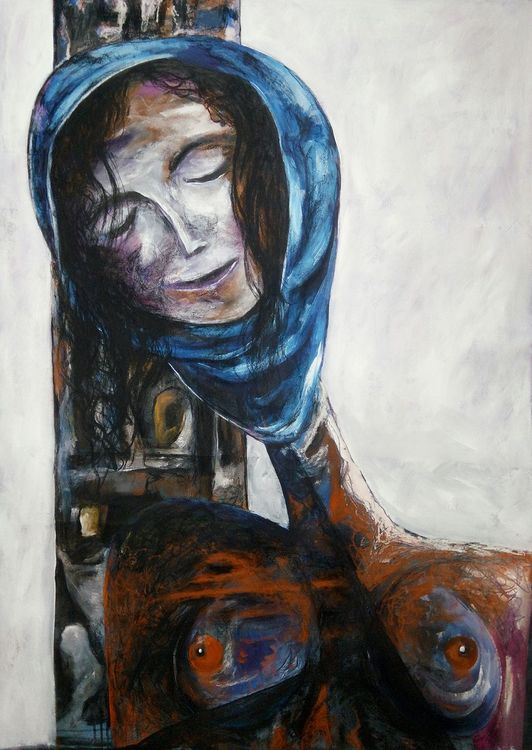 Shingal Woman #1 (In honor of Sinjar) by Ferhad Khalil - search and link Fine Art with ARTdefs.com