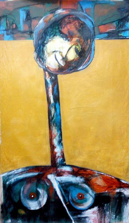 Shingal Woman #2 (Her Smile Mocks Death) by Ferhad Khalil - search and link Fine Art with ARTdefs.com