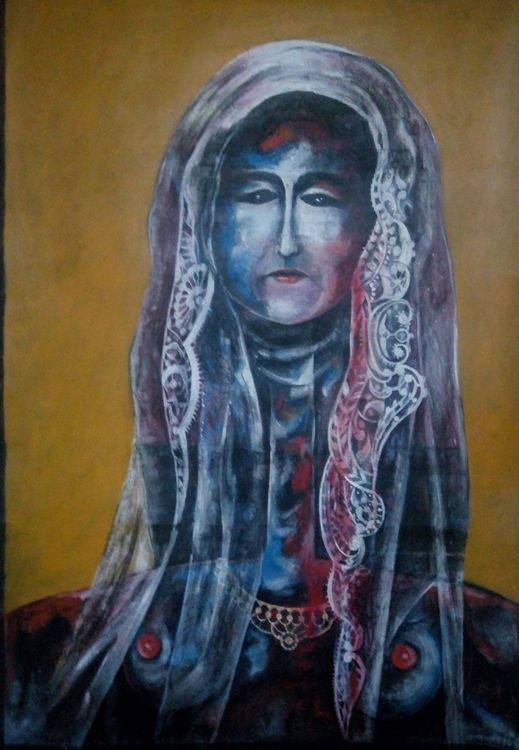 Shingal Woman #7(She Mourns at Dawn and Weeps at Night.)  by Ferhad Khalil - search and link Fine Art with ARTdefs.com