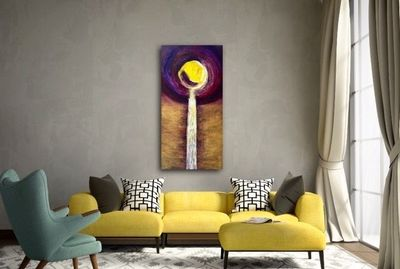 Golden waterfall by Hufreesh D Chopra - search and link Fine Art with ARTdefs.com