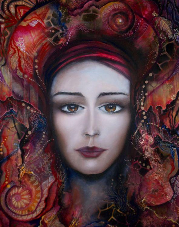 De l'autre coté du vitrail by Isabelle Le Pors - search and link Fine Art with ARTdefs.com