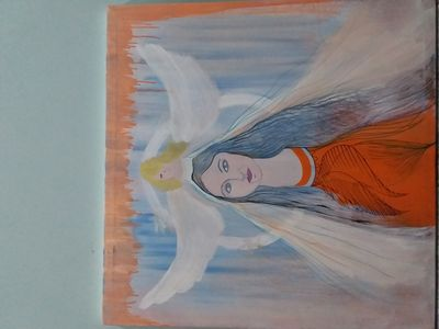 An Angel  by Neeti Bisht - search and link Fine Art with ARTdefs.com