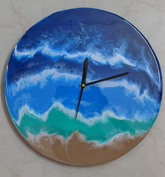 Resin wall clock by Neeti Bisht - search and link Fine Art with ARTdefs.com