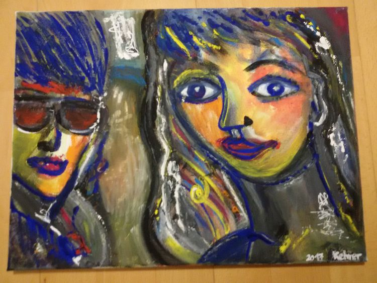 One Woman and Man by Regina Kehrer - search and link Fine Art with ARTdefs.com