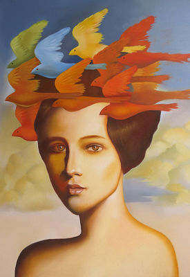 Wig of larks by Rubén Cukier  - search and link Fine Art with ARTdefs.com