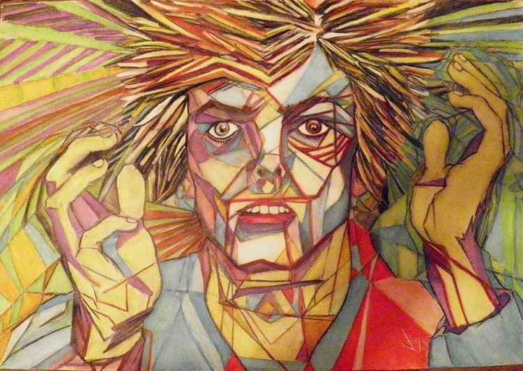 David Bowie by Virginia - search and link Fine Art with ARTdefs.com