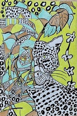 Leopardo-wildlife by Virginia - search and link Fine Art with ARTdefs.com