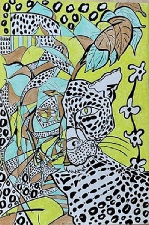 Leopardo-wildlife by Virginia Ersego - search and link Fine Art with ARTdefs.com
