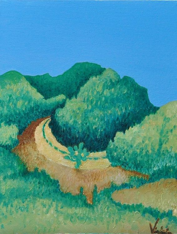 Sendero por la playa by Virginia Ersego - search and link Fine Art with ARTdefs.com