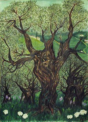 Un giorno di primavera fra gli ulivi by Virginia - search and link Fine Art with ARTdefs.com
