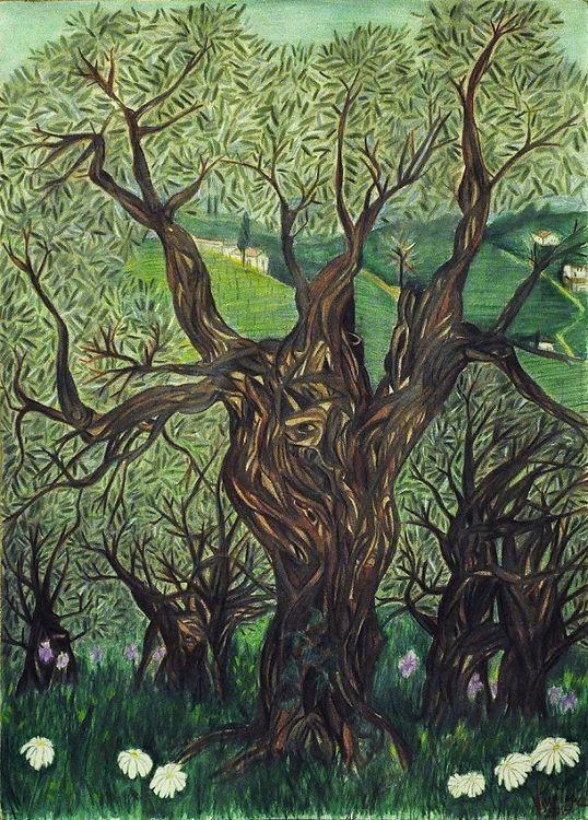 Un giorno di primavera fra gli ulivi by Virginia Ersego - search and link Fine Art with ARTdefs.com