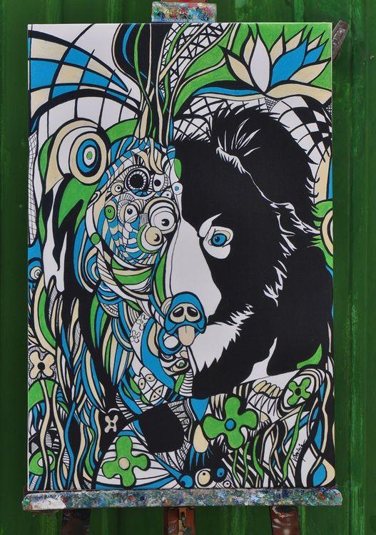 Orso-wildlife(print) by Virginia - search and link Fine Art with ARTdefs.com