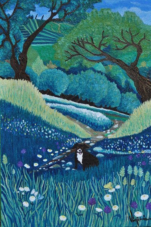 Juanita sul sentiero by Virginia Ersego - search and link Fine Art with ARTdefs.com