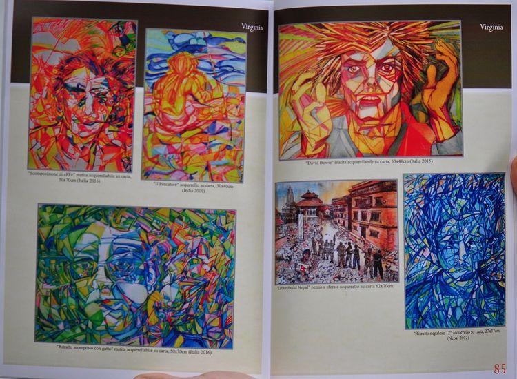 Ritratto scomposto con gatto by Virginia - search and link Fine Art with ARTdefs.com