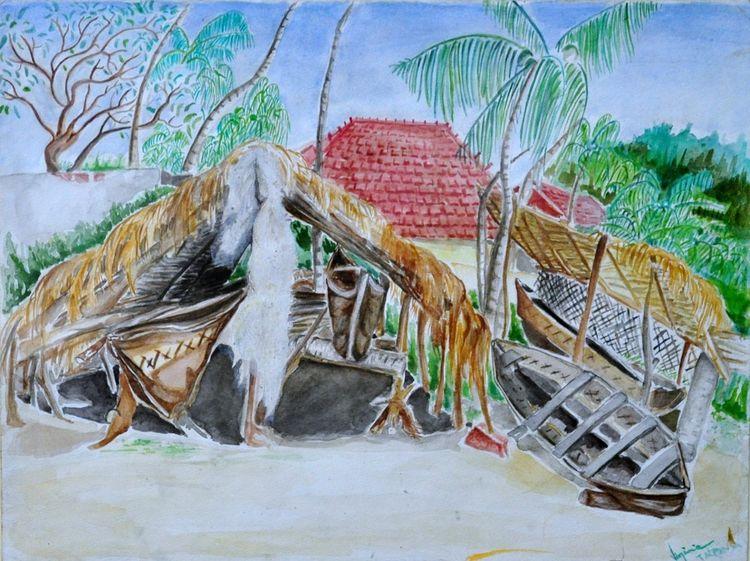 Capanna dei pescatori by Virginia Ersego - search and link Fine Art with ARTdefs.com