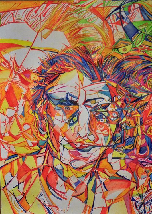 Scomposizione di eFFe by Virginia Ersego - search and link Fine Art with ARTdefs.com