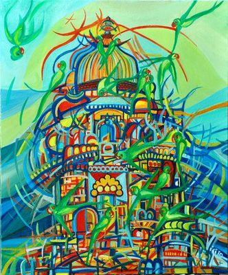 Pappagalli di Orchha by Virginia - search and link Fine Art with ARTdefs.com