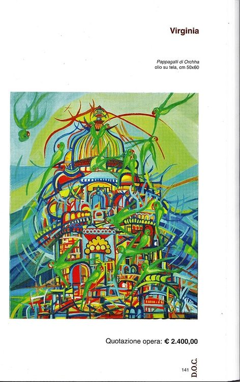 Pappagalli di Orchha by Virginia Ersego - search and link Fine Art with ARTdefs.com