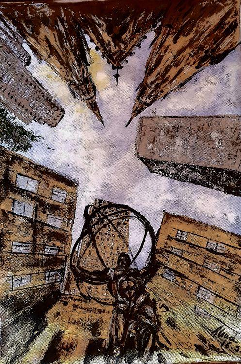 Rockefeller center NYC by Alina Ciuciu - search and link Fine Art with ARTdefs.com