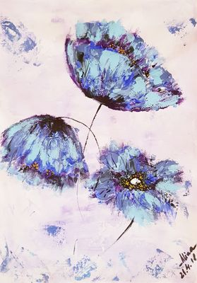 Himalayan poppies  by Alina Ciuciu - search and link Fine Art with ARTdefs.com