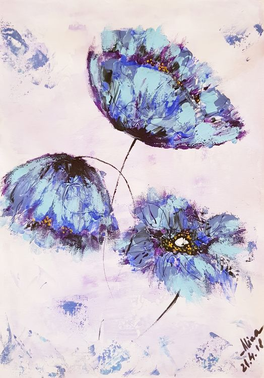 Himalayan poppies  by Alina Ciuciu - search and link Fine Art with ARTdefs.com