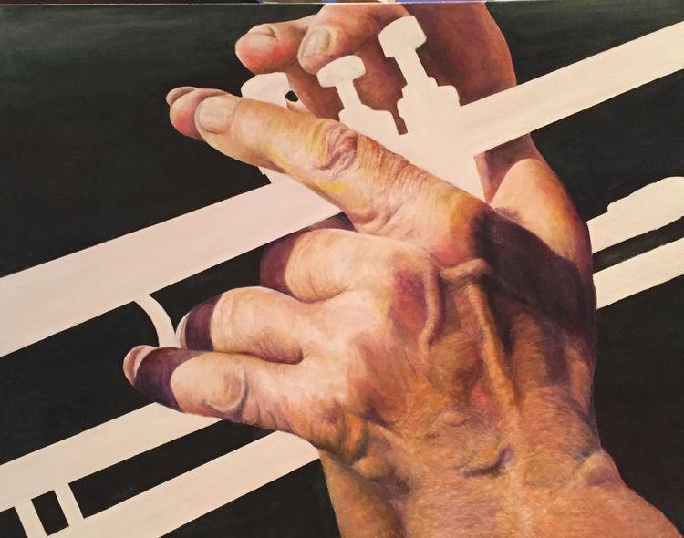 white Trumpet by Allan Skriloff - search and link Fine Art with ARTdefs.com