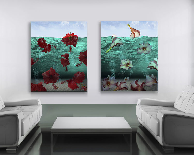 Red COZUMEL2 by Andrea DiFiore - search and link Fine Art with ARTdefs.com
