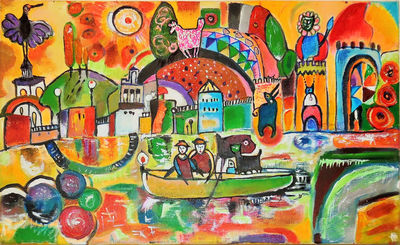 The River of Life by Anel Gur - search and link Fine Art with ARTdefs.com