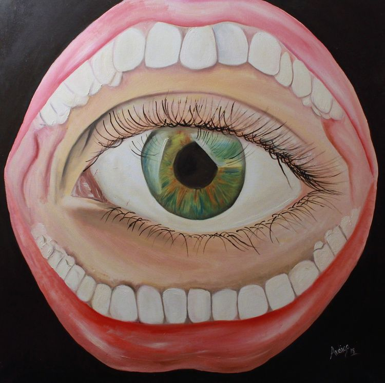 Can the words eat the looks? by Audra Diaz - search and link Fine Art with ARTdefs.com
