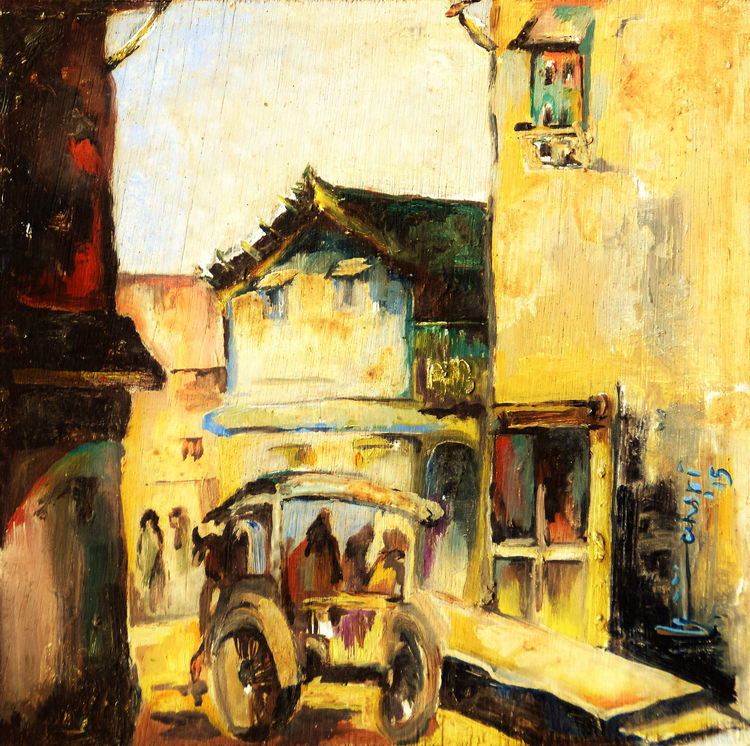 RUSTIC WAY  by Bansri Chavda - search and link Fine Art with ARTdefs.com
