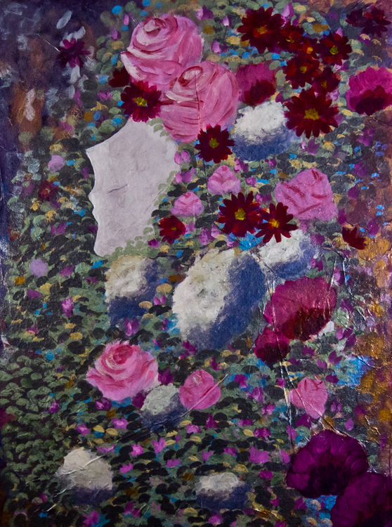 Roses and Mums by Bianca Franklin - search and link Fine Art with ARTdefs.com