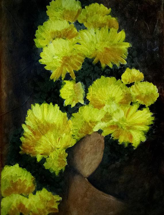 Chrysanthemum by Bianca Franklin - search and link Fine Art with ARTdefs.com