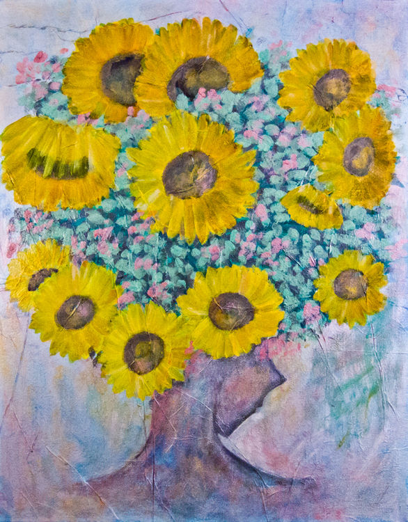 Sunflower by Bianca Franklin - search and link Fine Art with ARTdefs.com