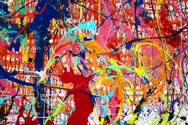 """Aura"" By Caroline Vis by Caroline Vis Dutch Dripping Artist - search and link Fine Art with ARTdefs.com"