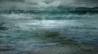 Cyan Sea by Chris Tuff - search and link Fine Art with ARTdefs.com