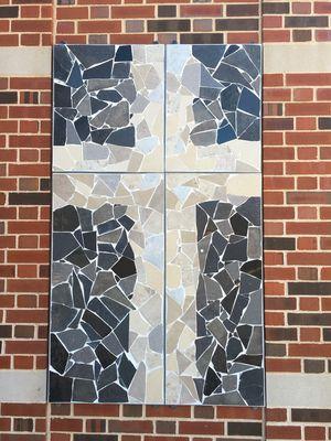 Broken Tiles Cross by Carol Fleming - search and link Fine Art with ARTdefs.com