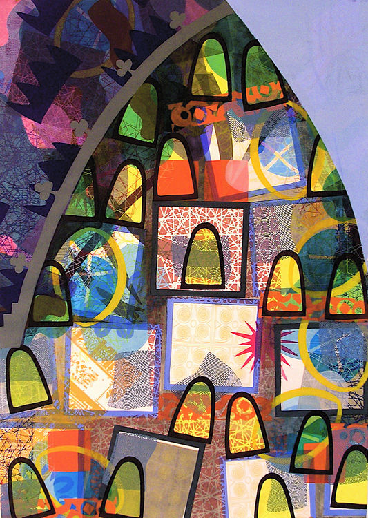 The Gumdrop Cathedral by Carlos Uribe - search and link Fine Art with ARTdefs.com