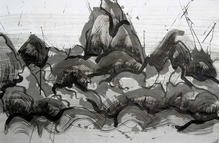 Mighty Mountain Series by Carlos Uribe - search and link Fine Art with ARTdefs.com