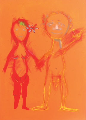 Adam and Eve by Dusan Krivsky - search and link Fine Art with ARTdefs.com