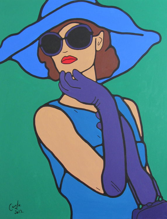 Marylebone Cover Girl Series by Emma Coyle - search and link Fine Art with ARTdefs.com