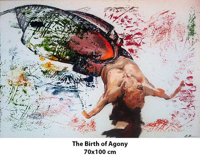 The Birth of Agony by Eugen Bregu - search and link Fine Art with ARTdefs.com