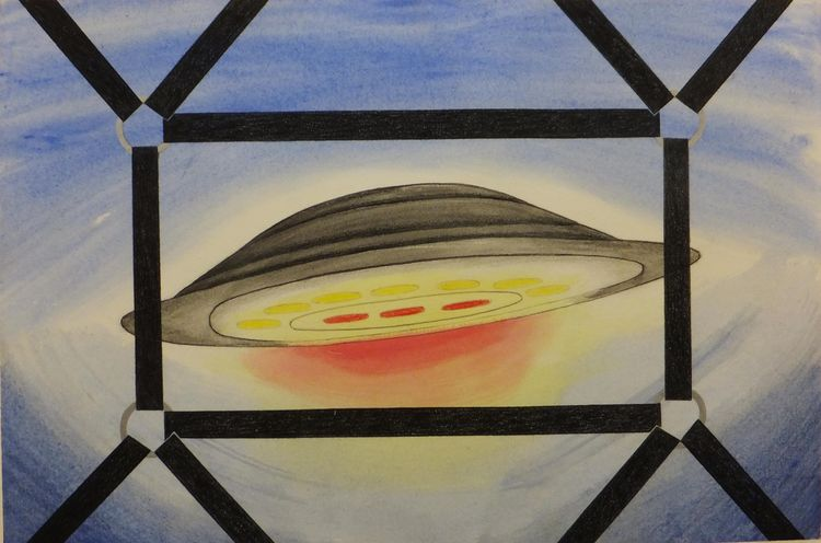 Captured Flying Saucer by Walter Fydryck - search and link Fine Art with ARTdefs.com