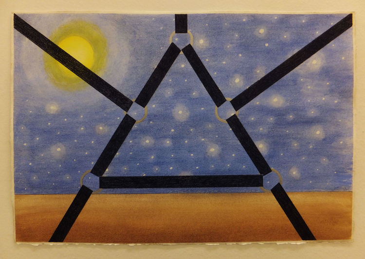 Captured Full Moon, Starry Night by Walter Fydryck - search and link Fine Art with ARTdefs.com