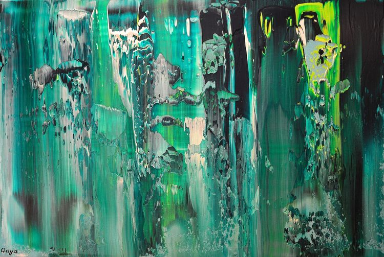 Green Glass of Ocean by Gaya Karapetyan - search and link Fine Art with ARTdefs.com